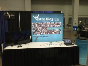 Extra Life Booth. Raise awareness, raise funds!